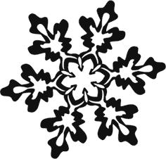 Снежинка из тонера.